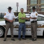 The Warren County Sheriff's Office has received a $1,500 grant from the Rappahannock Electric Cooperative through its LEARN (Literacy, Education and Rural Networking) program for emergency service agencies, nonprofits and local schools. Shown here are, from left: Sheriff's Office Lt. Ray Fogle; Ronnie Rutherford, of Rappahannock Electric Cooperative; and Sheriff Daniel McEathron. Courtesy photo