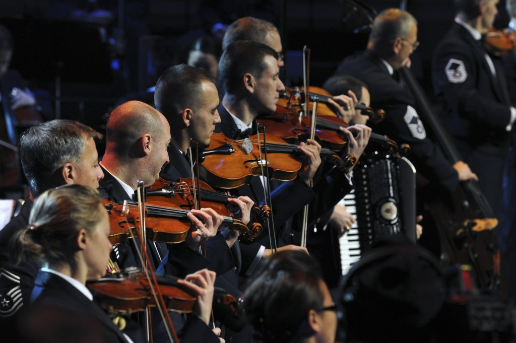 The Air Force Strings ensemble performs at last year's Air Force Association's Airman of the Year Banquet at the Gaylord National Resort & Convention Center at Oxon Hill, Maryland. The ensemble will  perform for a second year at the Shenandoah Valley Music Festival on Thursday. Photo courtesy of Shenandoah Valley Music Festival