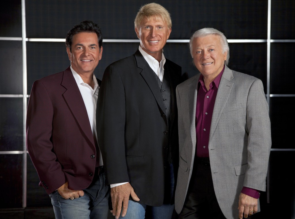 The Lettermen, from left,  Bobby Poynton, Donovan Tea and Tony Butala will perform this evening at the Shenandoah Valley Music Festival in Orkney Springs. Photo courtesy of Shenandoah Valley Music Festival