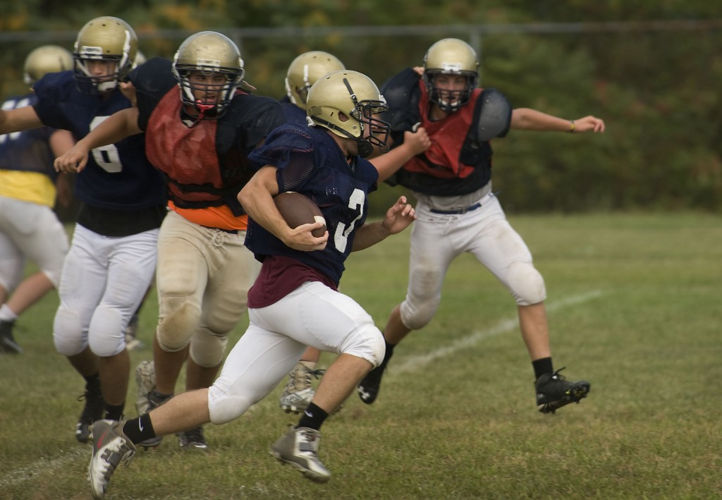 James Wood's Tyler Bishop runs the ball during a recent practice. Rich Cooley/Daily