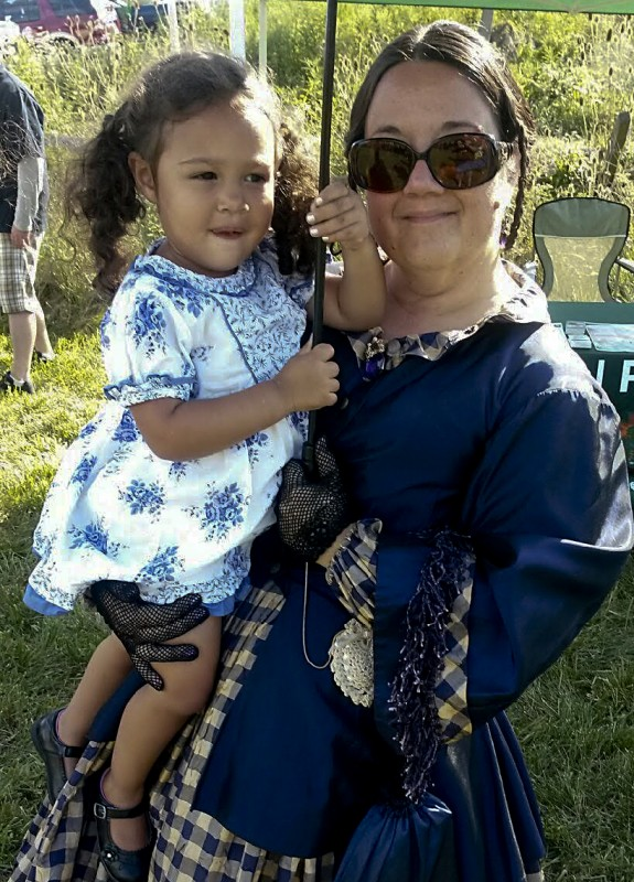 Donna Shrum, eighth grade English teacher at North Fork Middle School, is shown at the Fisher's Hill Picnic with her granddaughter Milani Raigner on Aug. 1.  Photo courtesy of John Shrum
