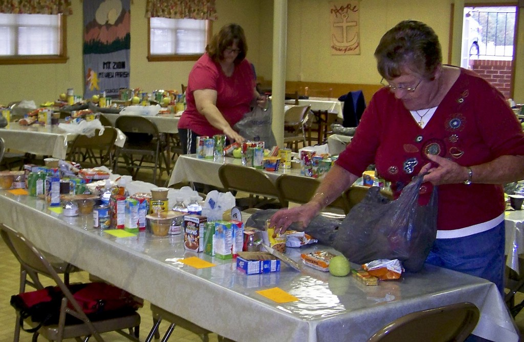 Last year, volunteers for Luke's Backpack put together around 72 bags a week for Shenandoah County Public School children and their families out of the Mt. Zion Lutheran Church central campus location. Photo courtesy of Leslie Heird