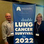 Josette Miller and her husband Paul Miller, of New Market, attend a summit in New York for lung cancer awareness.  Courtesy photo