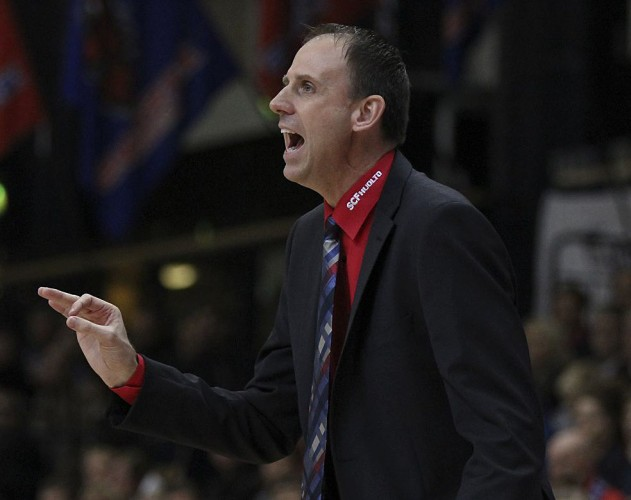 Greg Gibson, a 1987 Central High School graduate, was named the new head coach of Kataja Basket, a professional basketball team in Finland, in June. Courtesy photo by Tytti Nuoramo