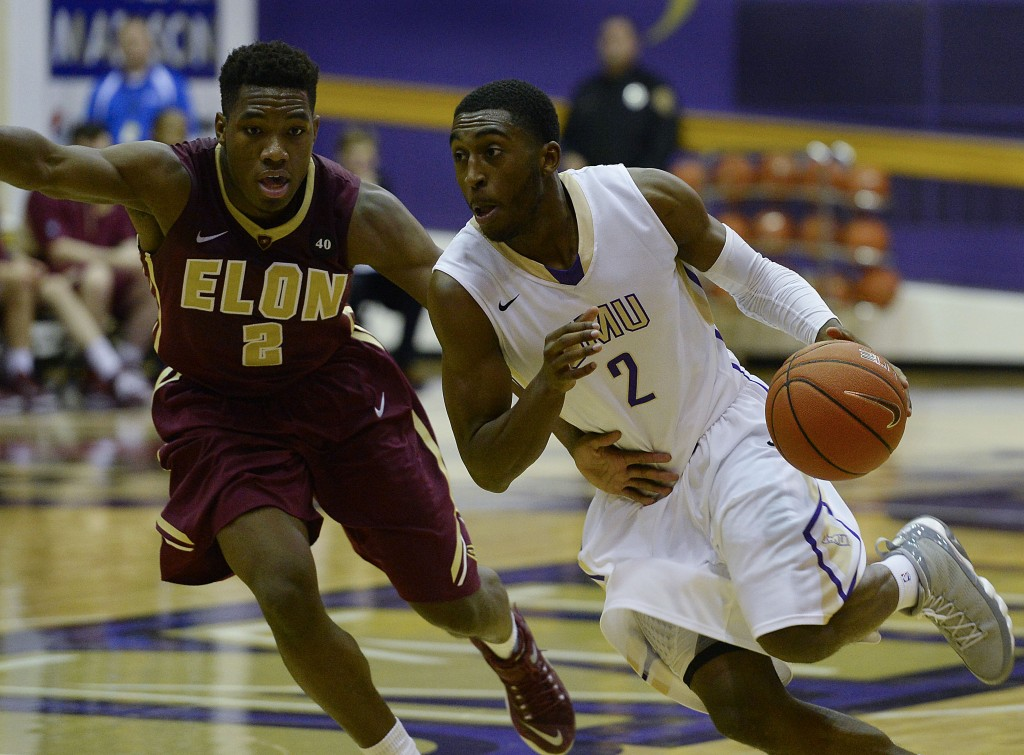 JMU's Ron Curry looks to drive to the basket during a game last season. Curry, a senior, will look to lead the Dukes to a strong season. JMU opens Friday at Richmond. Courtesy photo/JMU Athletics Communications
