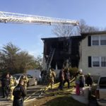 A townhouse fire at 1365 Robinhood Lane in Front Royal on Wednesday caused over $150,000 in damages. Photo courtesy of Warren County Fire