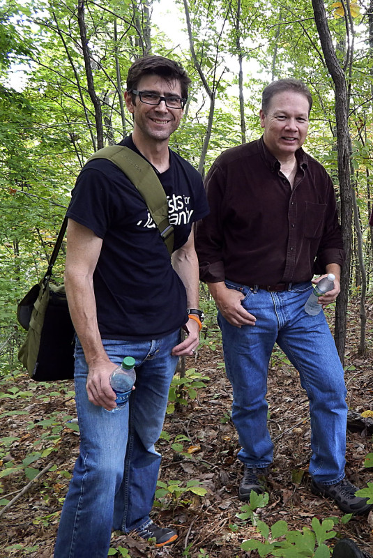 """The Mine Wars"" director Randall MacLowry, left, and Coal Country Tours leader Doug Estepp set out to see Blair Mountain in relation to the new documentary, which is set to air on PBS at 9 p.m. Jan 26. Photo courtesy of Doug Estepp"