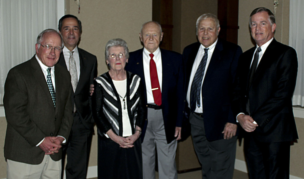 Community Foundation of the Northern Shenandoah Valley Stars, from left, are Bruce Downing, Harry Smith, Mary and Bill Huehn, Byron Brill and Larry Van Hoose.