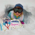 Raegan Kibler celebrates her ninth birthday in the snow.  Photo courtesy of   Cyndi Greer and Linda Weaver Hull.