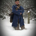 Re-enactor Tim Rhodes, of Jerome, portrays a soldier in the 1862 winter campaign during the Blizzard of 2016. Photo courtesy of Tracy Barb