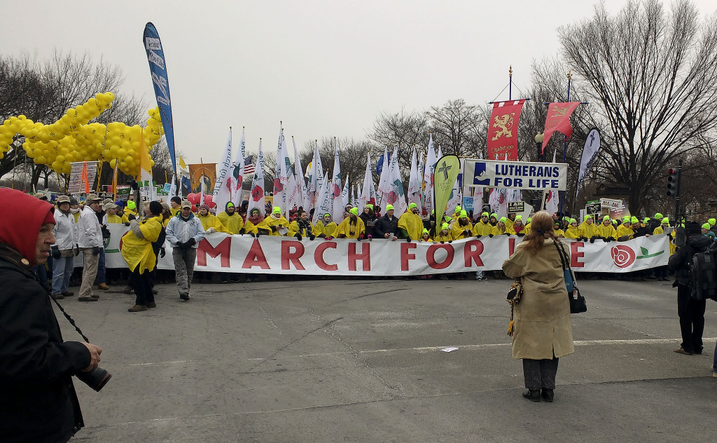 Participants in the 2016 March for Life in Washington, D.C., turned out in the thousands despite threats of snow and a blizzard warning for the area. Photo courtesy of Dominic Borchers
