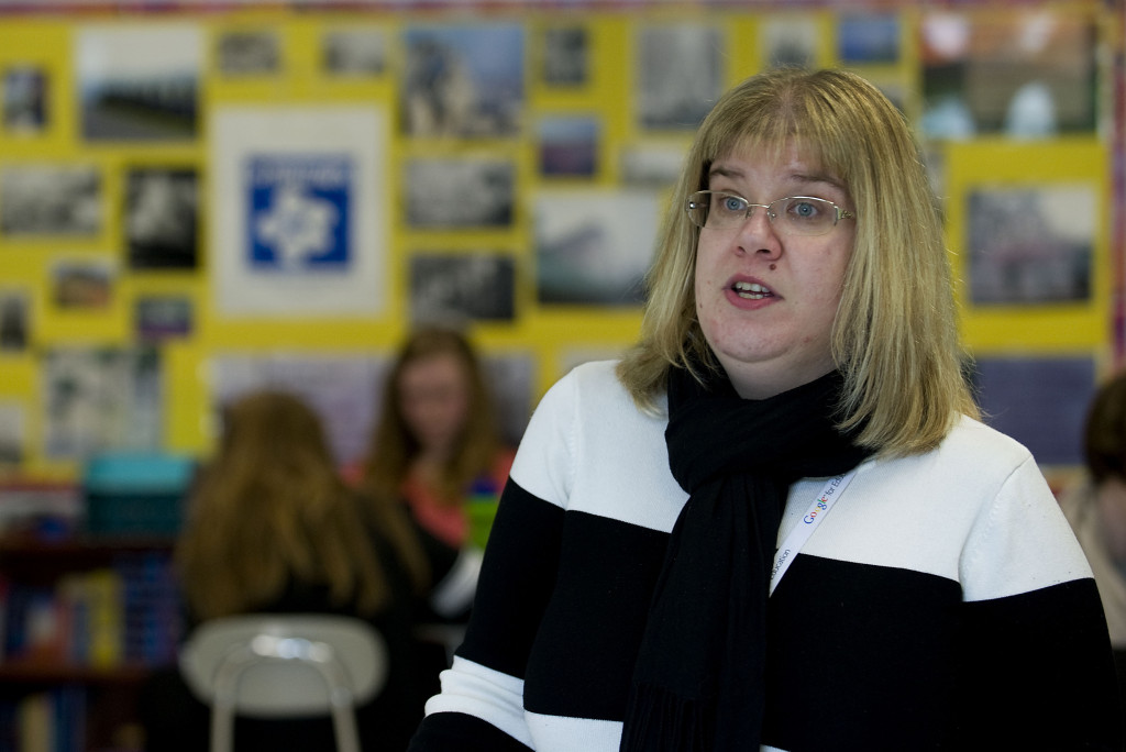Skyline High School French teacher Heidi Trude has joined the American Association of French Teachers' Future Leaders program and will be attending its conference in the summer. Rich Cooley/Daily