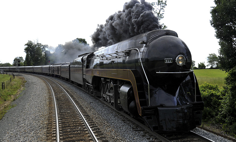 Virginia Museum of Transportation's Norfolk & Western Class J 611 steam locomotive is making another round of voyages after renovation work. Photo courtesy of Casey Thomason