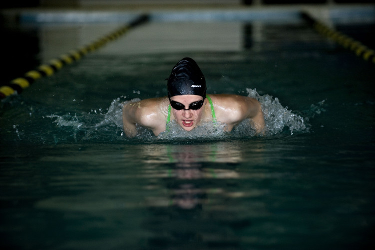 Central sophomore Ashley Funkhouser, the Northern Virginia Daily's 2016 Girls Swimmer of the Year, won a state championship in the 50-yard freestyle this past season. It was the first state swimming championship in the school's history.  Rich Cooley/Daily