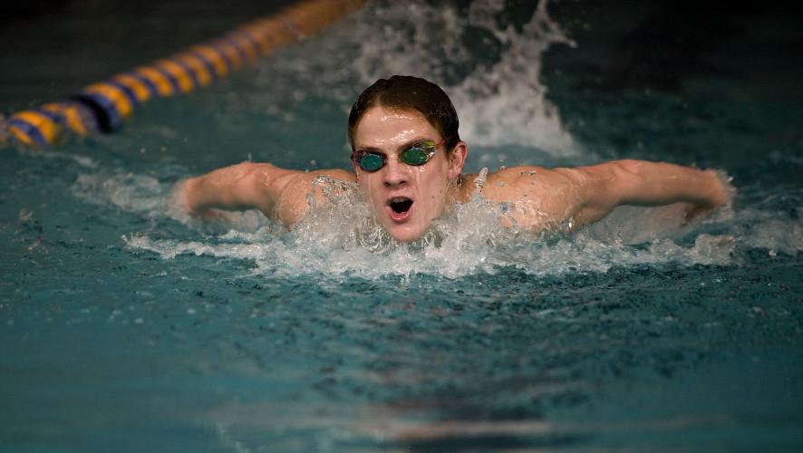 Sherando junior  Daniel Milburn swims for his school as well as for his club team, Nation's Capital Swim Club in Manassas Park. Rich Cooley/Daily