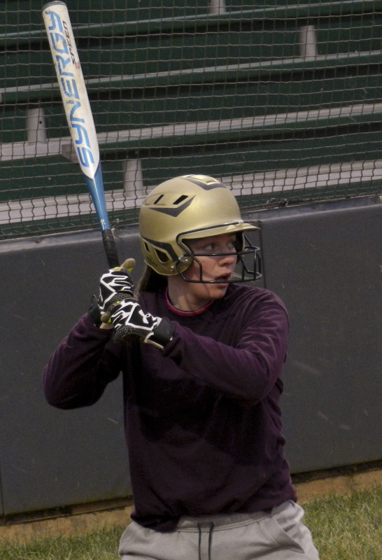 Skyline senior Makaela Dawkins awaits a pitch during practice on March 3 in Front Royal.   Brad Fauber/Daily