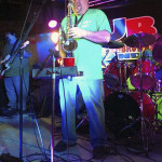 JB and the Get Down Browns band member Brian Parks plays saxophone on stage at The Valley Foundation's 2015 St. Patrick's Day celebration. Photo courtesy of Jamie Pence