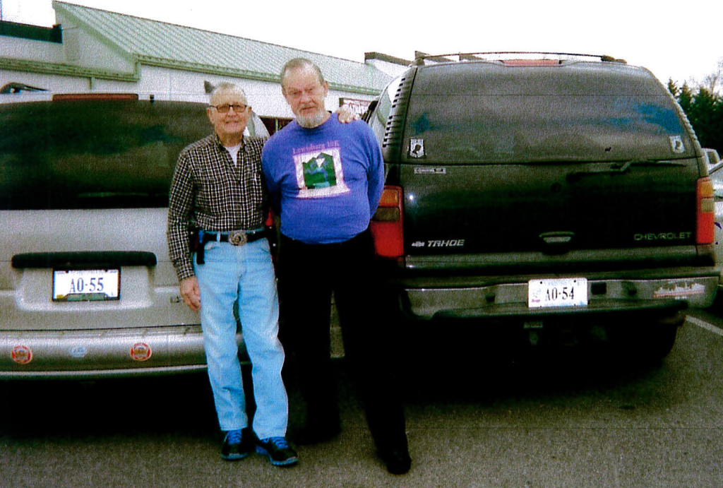 """Don Hoffman, left, of Mount Jackson, and Fred Holland, right, of Woodstock, recently attended the """"Old Tanker Sailors Reunion"""" at Ben's Diner in Woodstock. Holland served aboard the USS Chikaski AO-54 and Hoffman serverd aboard the USS Elokomin AO-55. Courtesy photo"""