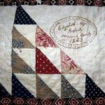 "The Elizabeth Neff quilt, made in 1843, was   purchased by the Shenandoah County Historical Society and Virginia Quilt Museum. The inscription reads ""Elizabeth Neffs Property Shenandoah County VA 1843. Courtesy photo"