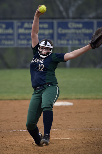 Skyline's Tamara Grayson fires a pitch during a game against Warren County earlier this season. s this week, coming off a dramatic win over Warren County. Rich Cooley/Daily file