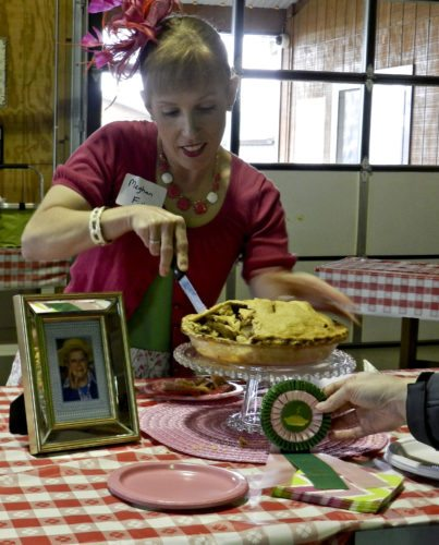 Meghan Fisher, 37, of Winchester, won first place in the adult division of this year's Shenandoah Apple Blossom Festival apple pie baking contest. Kaley Toy/Daily