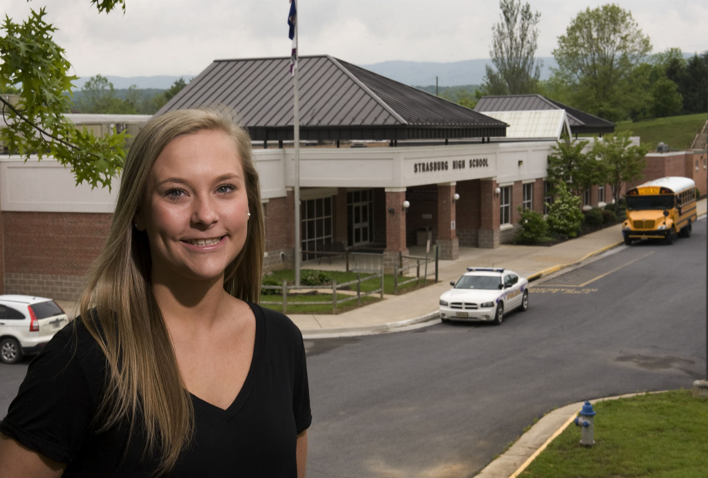 Strasburg High School senior Haley Copeland, 18, of Strasburg,  just finished her year as president of the Virginia FCCLA and is looking forward to starting at James Madison University this fall.  Strasburg seniors will graduate Saturday.  Rich Cooley/Daily