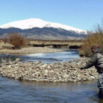 Peter Brookes wades into the South Platte River to fish for trout. Courtesy photo