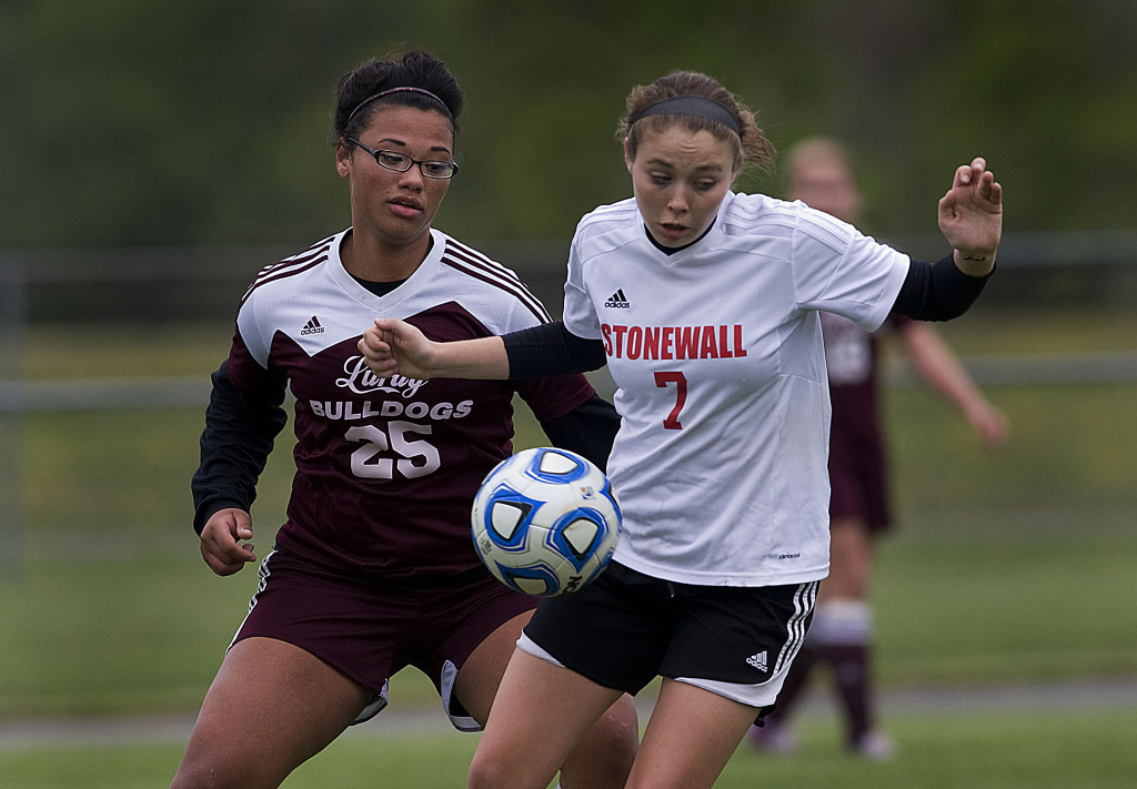 Stonewall Jackson sophomore LuLu Funkhouser, The Northern Virginia Daily's 2016 Girls Soccer Player of the Year, led the Generals with 24 goals and 19 assists this past season.    Rich Cooley/Daily