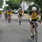 The Holy Rollers begin the   first leg of their journey from New Market to Roanoke on Wednesday.  Jake Zuckerman/Daily