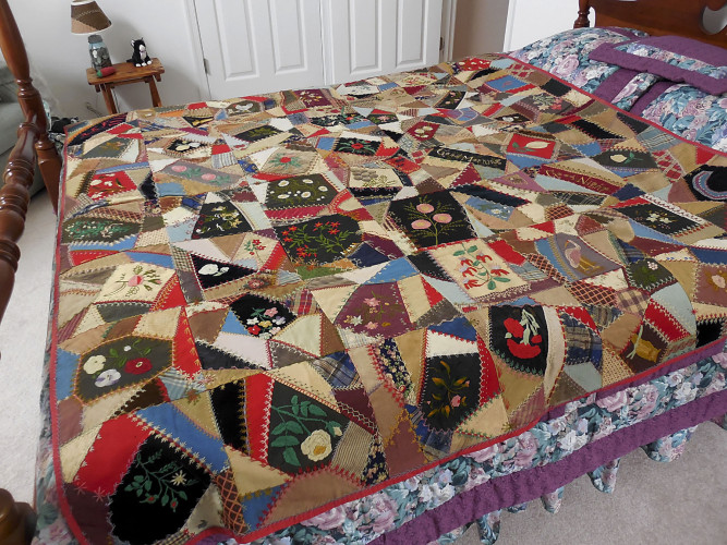 This Funkhouser Zirkle quilt will be one of many Shenandoah family quilts on display during the Elizabeth Neff quilt homecoming event in Woodstock on Saturday. Photo courtesy of Barbara Adamson