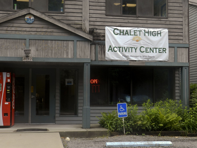 The newly christened Chalet High Activity Center is the next structure at the Basye time-share community to be overhauled. Construction is scheduled to be completed by early October. Nathan Budryk/Daily