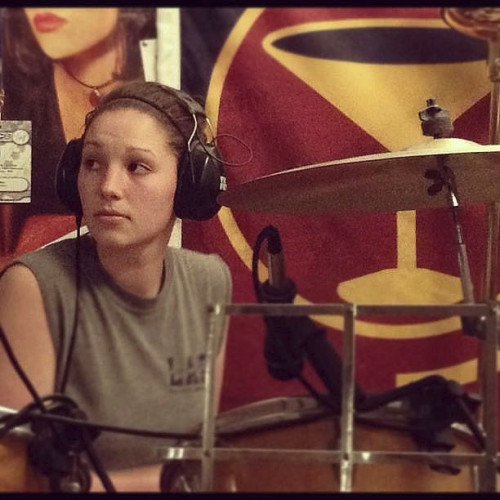 Brooke Magalis is pictured drumming for the band Black Hat Clowns.  Photo courtesy of Brooke Magalis