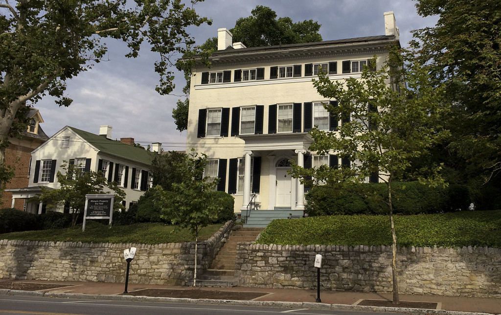 The Bell House, North Cameron Street in Winchester, is pictured. The Shenandoah Valley Battlefields Foundation received the keys from previous owners Tom Bell and Kathy Bell during a ceremony on Monday. Photo courtesy Terry Heder