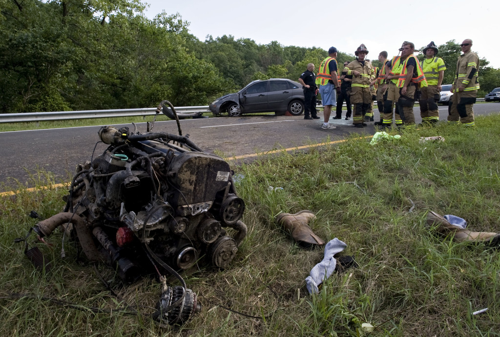 One person was transported from the scene of a U.S . Route 11 crash around 6 p.m. Tuesday at Fishers Hill, south of Strasburg. Strasburg Fire Department, Strasburg Volunteer Rescue Squad and Shenandoah County Fire and Rescue members responded. Further information was unavailable.  Rich Cooley/Daily