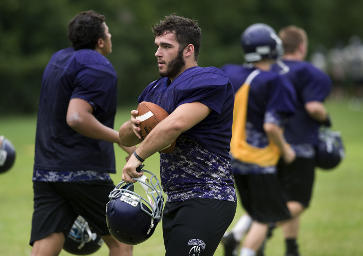 Strasburg's Josh Pritchett will look to lead the Rams on both sides of the ball this season. Pritchett has played numerous positions for the Rams in his three seasons.  Rich Cooley/Daily
