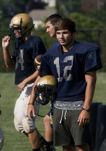 Aaron Tasker, Skyline's wide receiver, had 35 receptions last year. This year he will be looking to lead the way again for the Hawks' receiving corps. Rich Cooley/Daily
