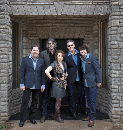 The SteelDrivers band will perform today at the Shenandoah Valley Music Festival. Members are, from left, Richard Bailey, Brent Truitt, Tammy Rogers, Mike Fleming and Gary Nichols. Courtesy photo