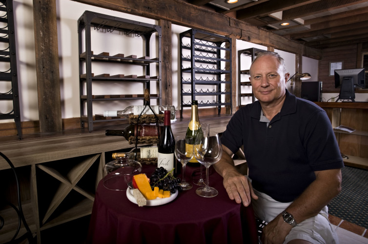 Mike Clem, of Edinburg, is planning to open  Heritage Mill Wines 1848 inside the Edinburg Mill during the second week of September. Rich Cooley//Daily