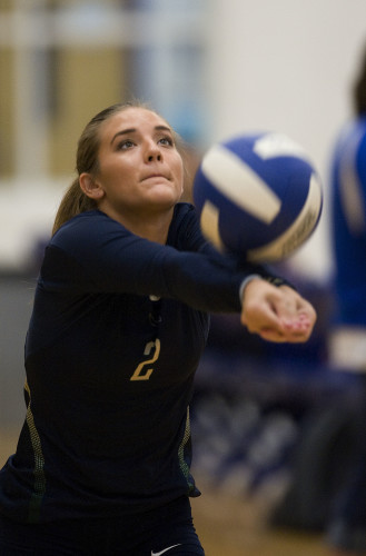 Skyline High School's Jessica Simms will lead the Hawks in volleyball this year. Rich Cooley//Daily