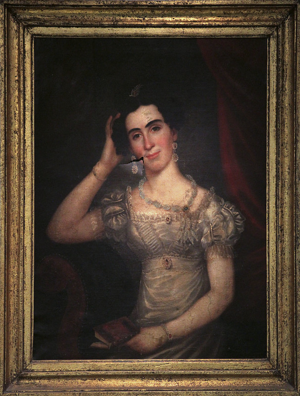 This 19th-century portrait, believed to be of Mary Wood Early, who worked as a nursemaid for the Latham family, of Winchester, has been entered by the Museum of the Shenandoah Valley  into the 2016 Virginia's Top 10 Endangered Artifacts Competition.  Courtesy photo