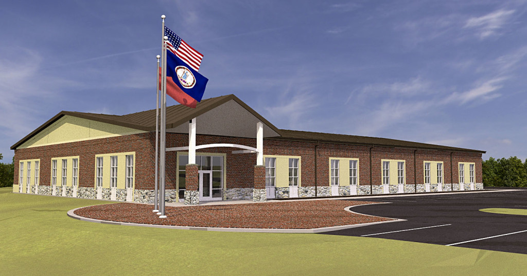 The Skyline Regional Criminal Justice Academy, pictured in a digital image, will be located at the end of Progress Drive in Front Royal. General Contractor Howard Shockey & Sons plans to break ground on the academy in November.  Image courtesy of Front Royal Warren County EDA