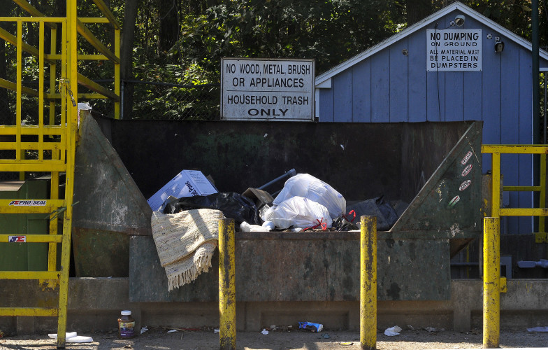 The county citizen convenience center on  state Route 55 is  covered by security cameras. If the cameras capture anyone dumping illegally, the county will send information to the Sheriff's Office.  Jake Zuckerman/Daily