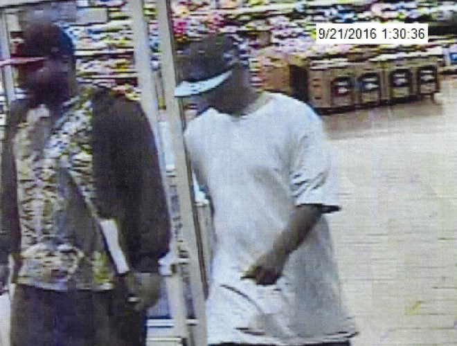 This is an image taken from surveillance video of suspects in the theft of iPhones at the Wal-Mart store in Warren County. Courtesy photo