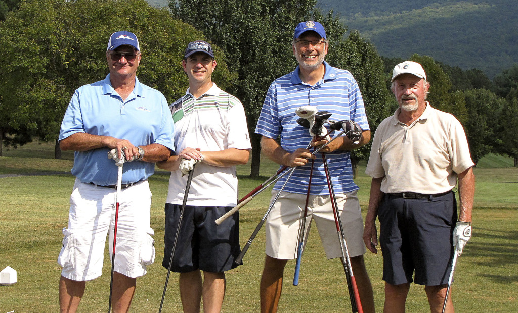 The New Market Rotary Club golf tournament winning team includes Skip Krobath, Jerry Biller, Jefferson Burgess and  J.T. Hearn. Courtesy photo