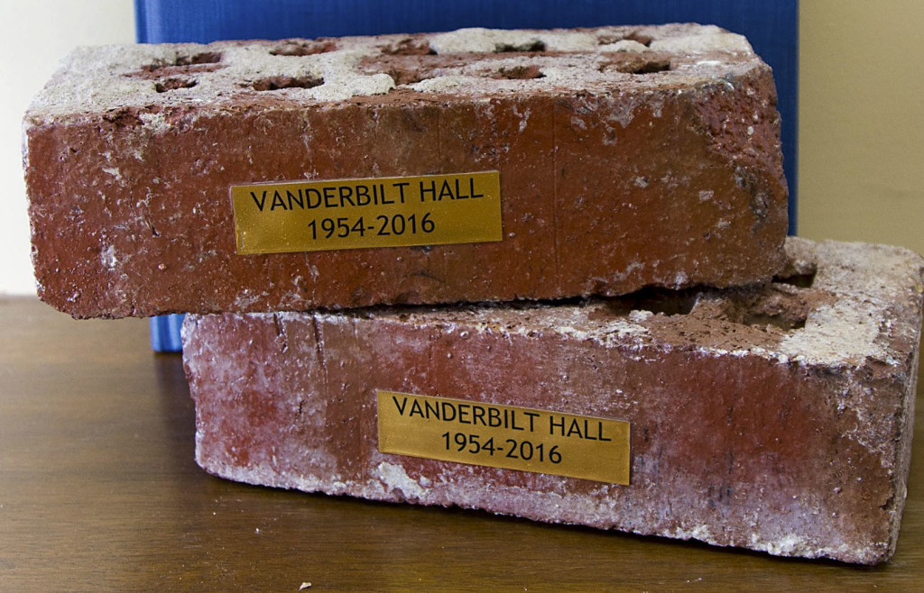 Vanderbilt Hall bricks are $10 each, and proceeds go to the United Way 2016 campaign. Courtesy photo by Lisa Heishman