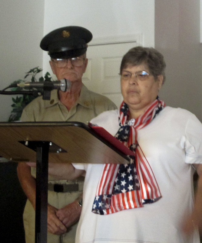 Edgar and Rose Harper, members of the Shenandoah Valley Minstrels, perform at the District G Retired Teachers Association meeting