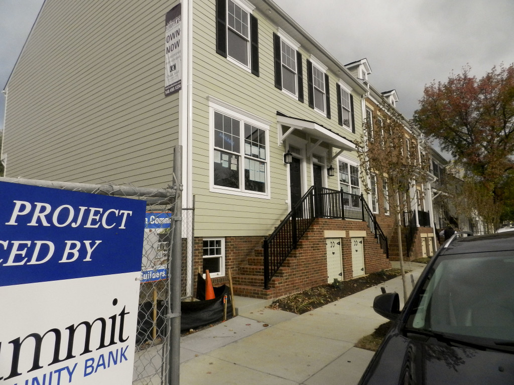 OldTowne Commons, a nine-unit housing development at the corner of Braddock and Pall Mall streets in Winchester, was unveiled Friday morning. Nathan Budryk/Daily