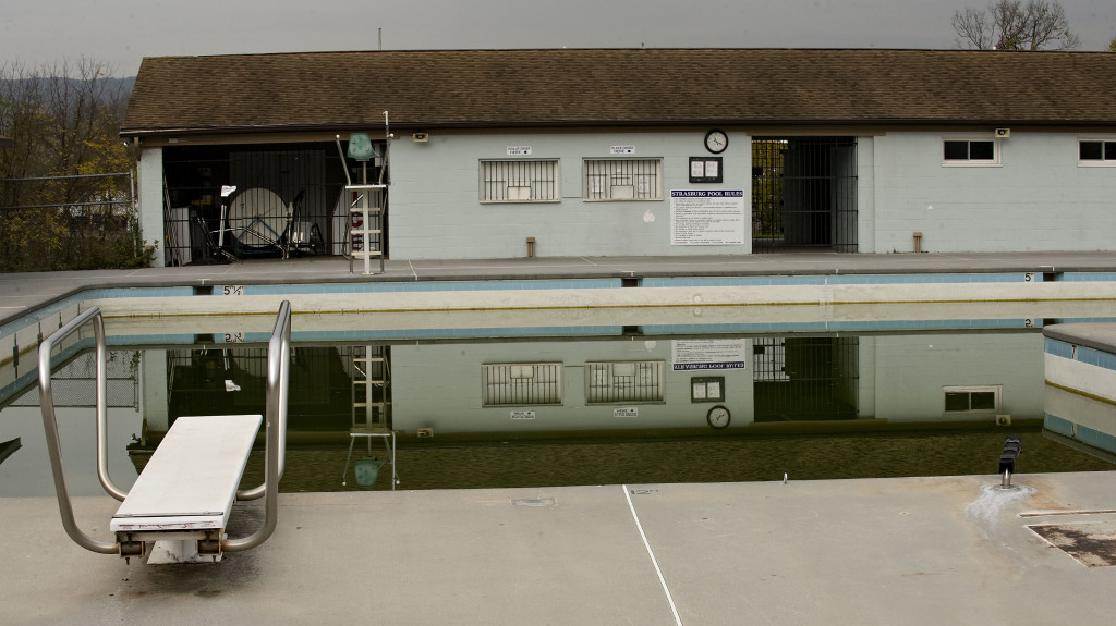 Strasburg Town Pool sits idle on this November 1 photo along Park Road. The Strasburg Town Council decided at its work session Tuesday night that it would further investigate closing the town pool for the summer of 2017.Rich Cooley/Daily