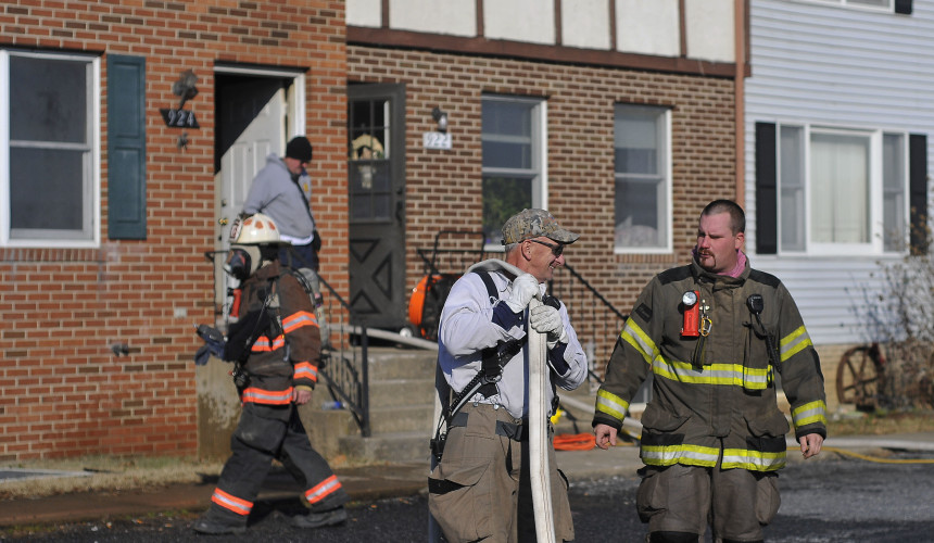 Crews from Shenandoah County Fire and Rescue and the Woodstock Fire Department responded to a fire in the kitchen of an apartment at 924 Hilltop Drive on Tuesday morning.  Jake Zuckerman/Daily