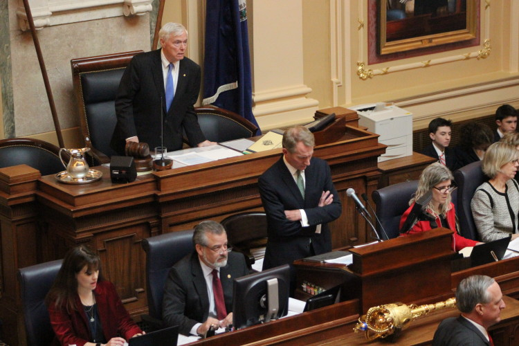 House Speaker Bill Howell convenes the Virginia House of Delegates on Wednesday. Photo by Mary Lee Clark/ VCU Capital News Service